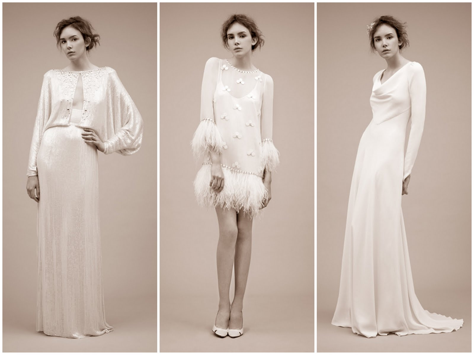 Long Sleeved Wedding Dresses From Jenny Packham 2011   Antonella, Dido U0026  Yevonde