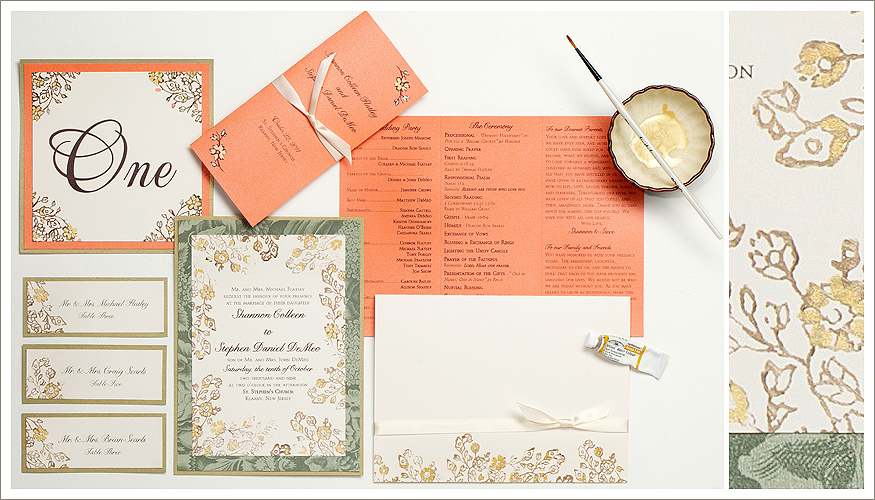 Hand Painted Wedding Stationery from Momental Designs - Lacy 1