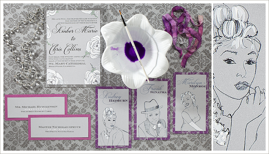 Old Hollywood Wedding Stationery from Momental Designs - Old Hollywood 2