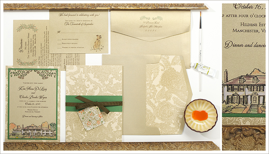 Painted Wedding Stationery by Momental Designs - Painted Places 9