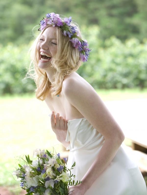 Sweet Pea Bridal Flower Headdress