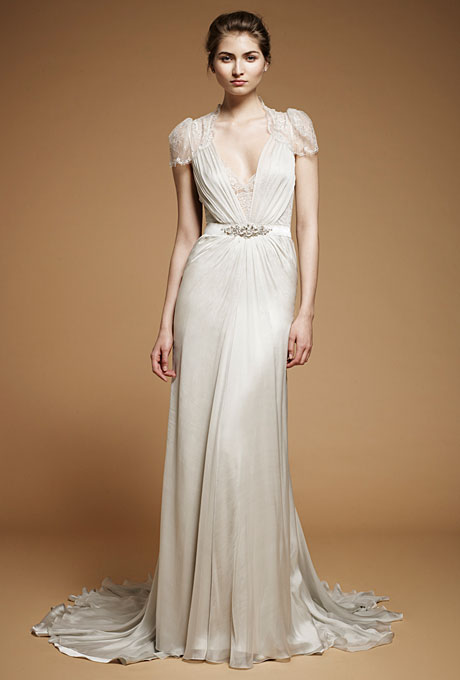 Capped Sleeve Jenny packham Wedding Dress Aspen