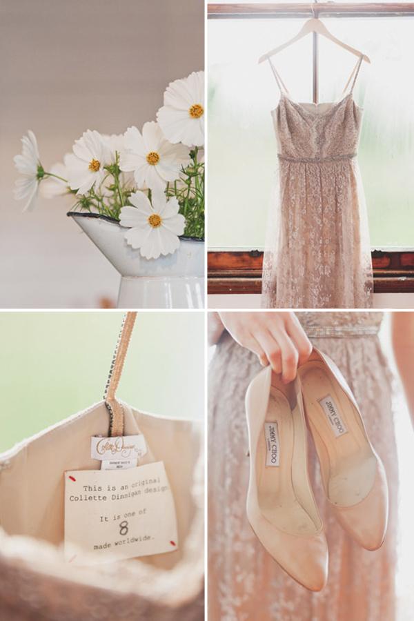 Collette Dinnigan Blush Bridal Gown