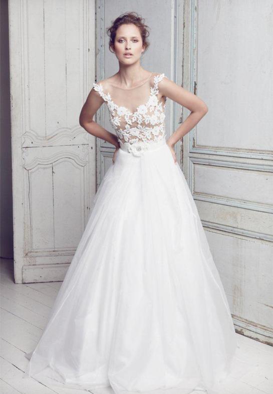 Collette Dinnigan - SS11 Diamante Floral Bridal Gown