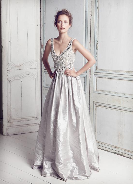 Collette-Dinnigan - SS11 Fantasia Silver Bridal Gown