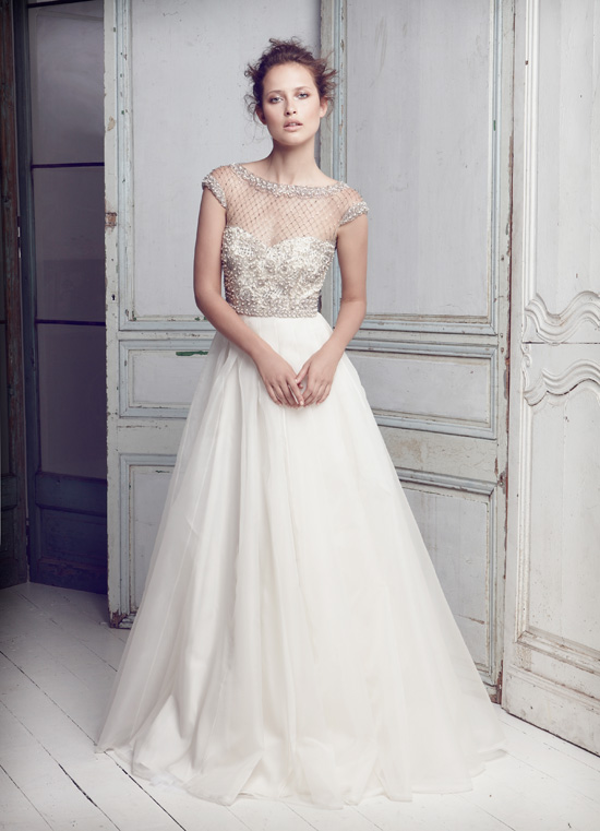 Collette-Dinnigan - SS11 Lattice Pearls Beaded Bodice Bridal Gown
