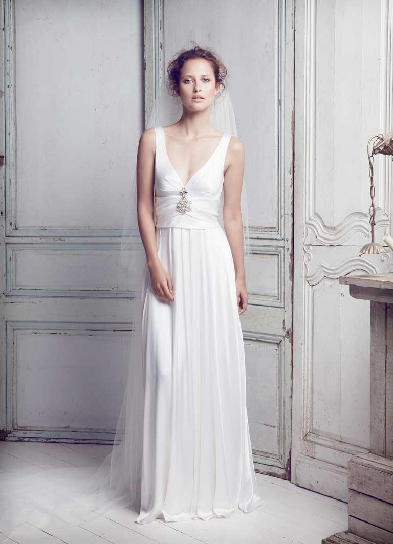 Collette-Dinnigan - SS11 Silk Satin Beaded Bridal Gown