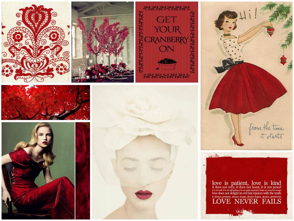 Vintage Cranberry Christmas Wedding Inspiration Board