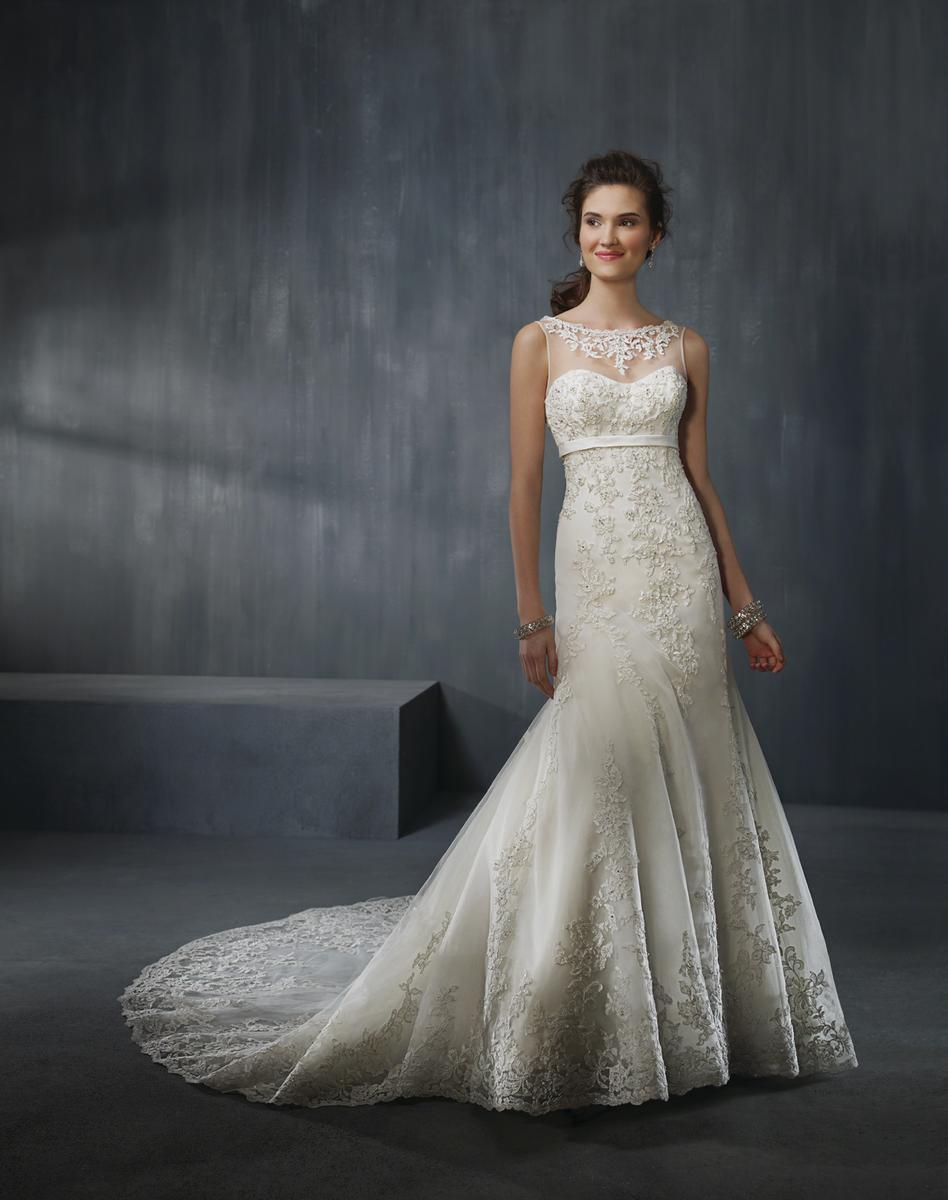 Alfred Angelo 2302 Wedding Dress with Illusion neckline