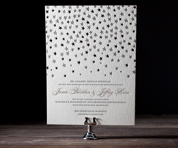 Royal Night Letterpress Wedding Stationery from Bella Figura
