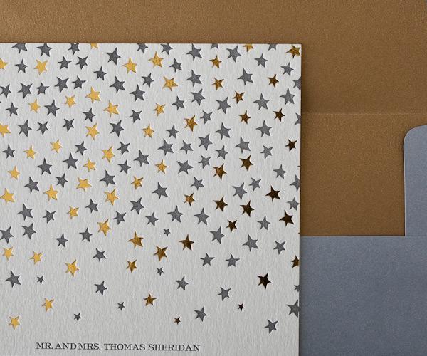 Royal Night Letterpress Wedding Stationery from Bella Figura