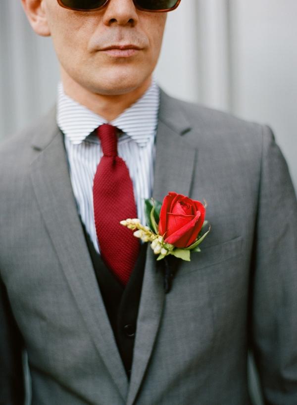 Groom Boutoniere - Retro Melbourne Wedding