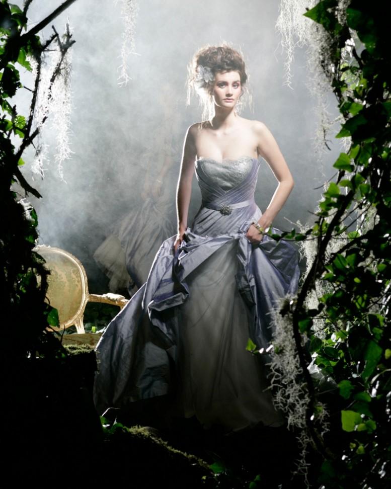 Karen Willis Holmes Couture Silver Bridal Gown - Lana