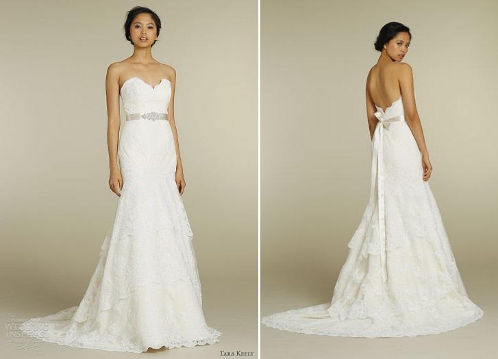 Tara Keely 2012 Lace Wedding Dress 2206