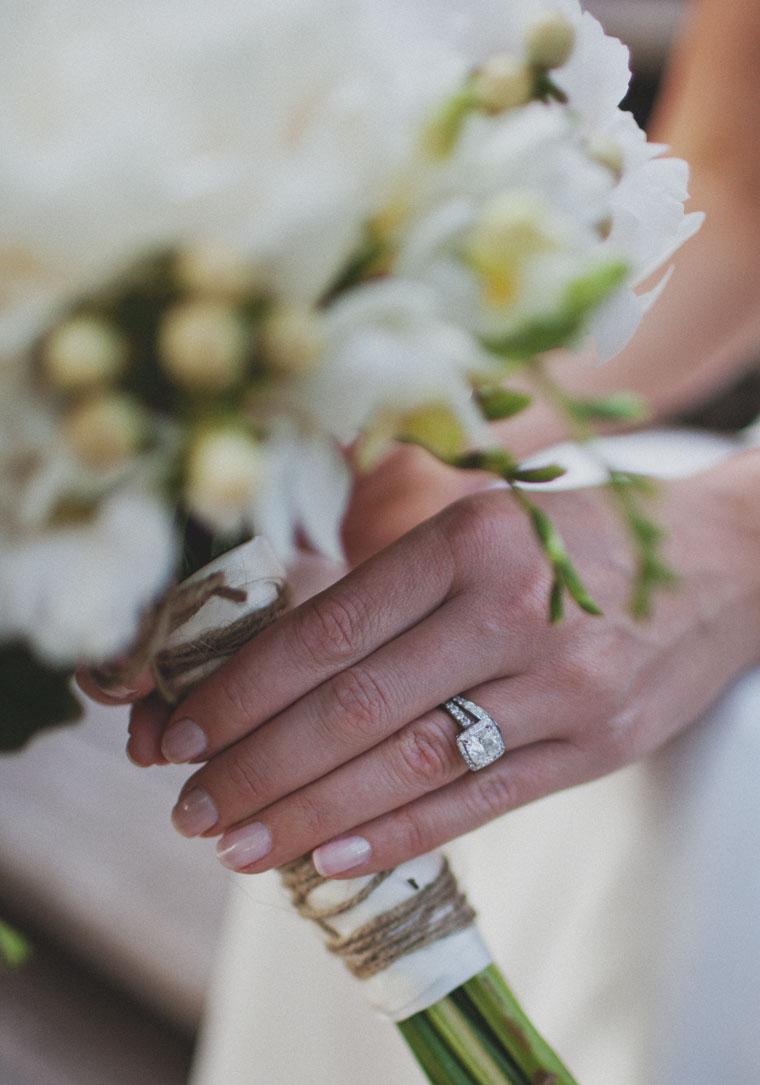 Ryan & Alex Copacabana NSW, Australia Vintage Inspired Bouquet & Engagement Ring