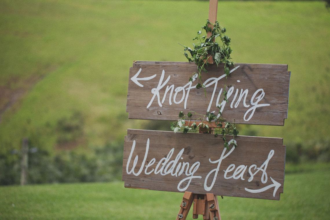 Ryan & Alex Copacabana NSW Australia, Ceremony & Reception Wedding Sign
