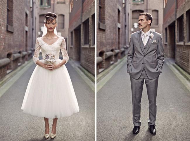 1950s Inspired Retro Australian Wedding Chic Vintage Brides