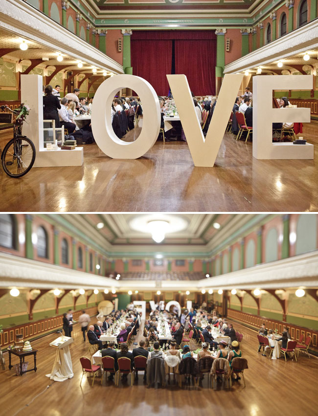 Australian retro wedding marina & andy LOVE sign