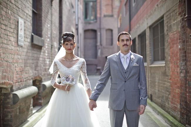 Australian Retro wedding marina & andy