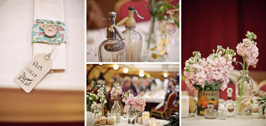 marina & andy retro Australian wedding reception details