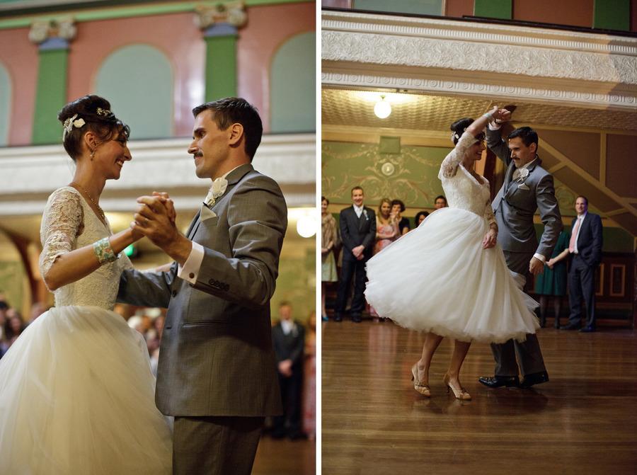 Australian retro wedding marina & andy first dance