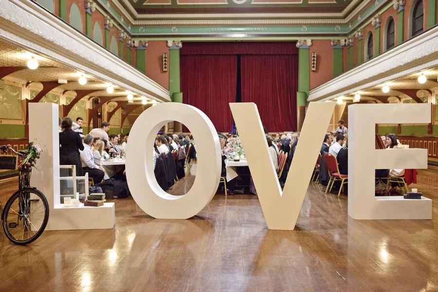 Australian wedding marina & andy LOVE sign
