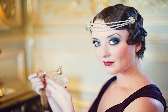 Art Deco Makeup & Marcel Waved Hair