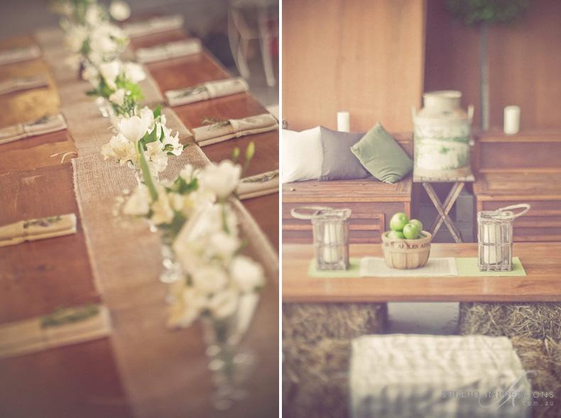 Centre Pieces - Keirra & Chris Noosa Australia Barn Wedding - Studio Impressions