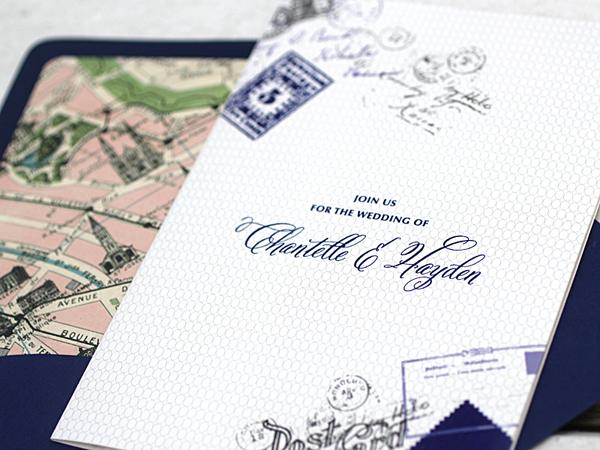 Ruby & Willow Paris Wedding Invitation Suite via Magnolia Rouge