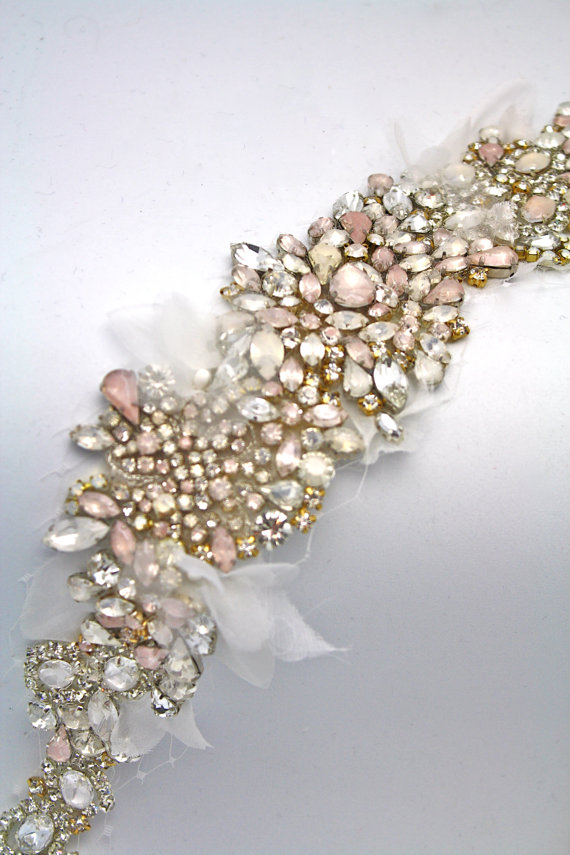 One of a Kind Crystal Sash from Doloris Petunia