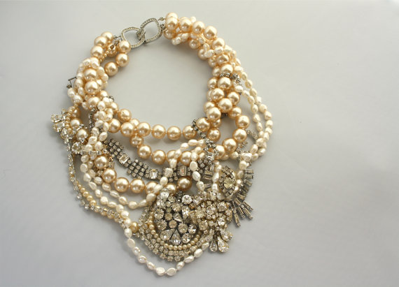 One of a Kind Pearl Vintage Necklace from Doloris Petunia