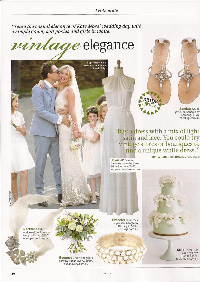 Sydney Bride Kate Moss Wedding Vintage Elegance Inspiration Board