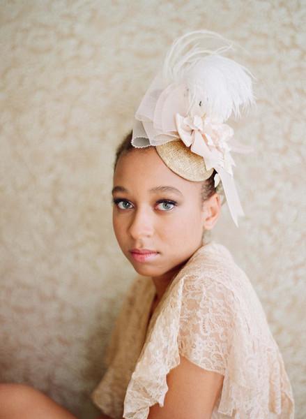Twigs & Honey 2012 Plumed Mini Hat Style #246