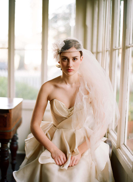 Twigs & Honey 2012 Tattered Bridal Veil Style #223