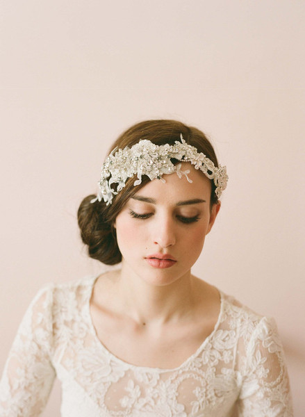 Twigs & Honey 2012 Embellished Lace Headband Style #243