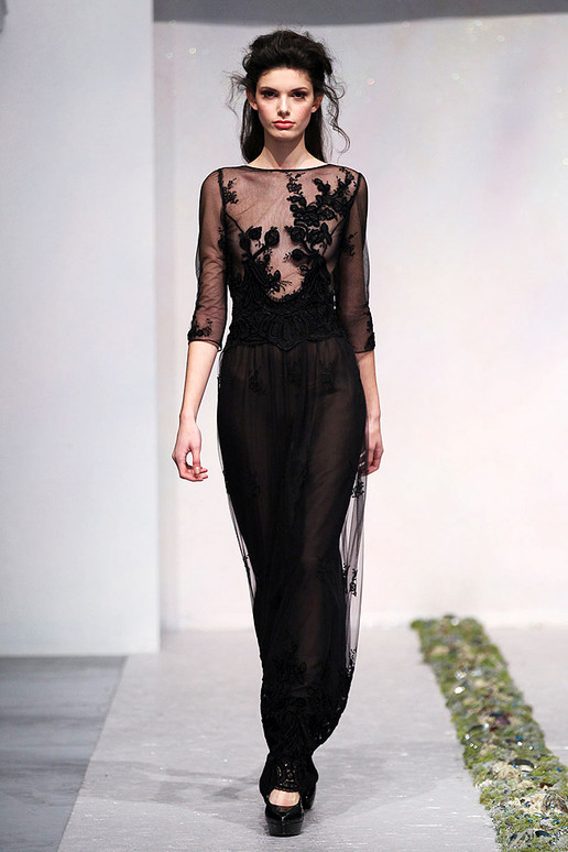 LUISA BECCARIA FALL 2012 RTW Black Gown