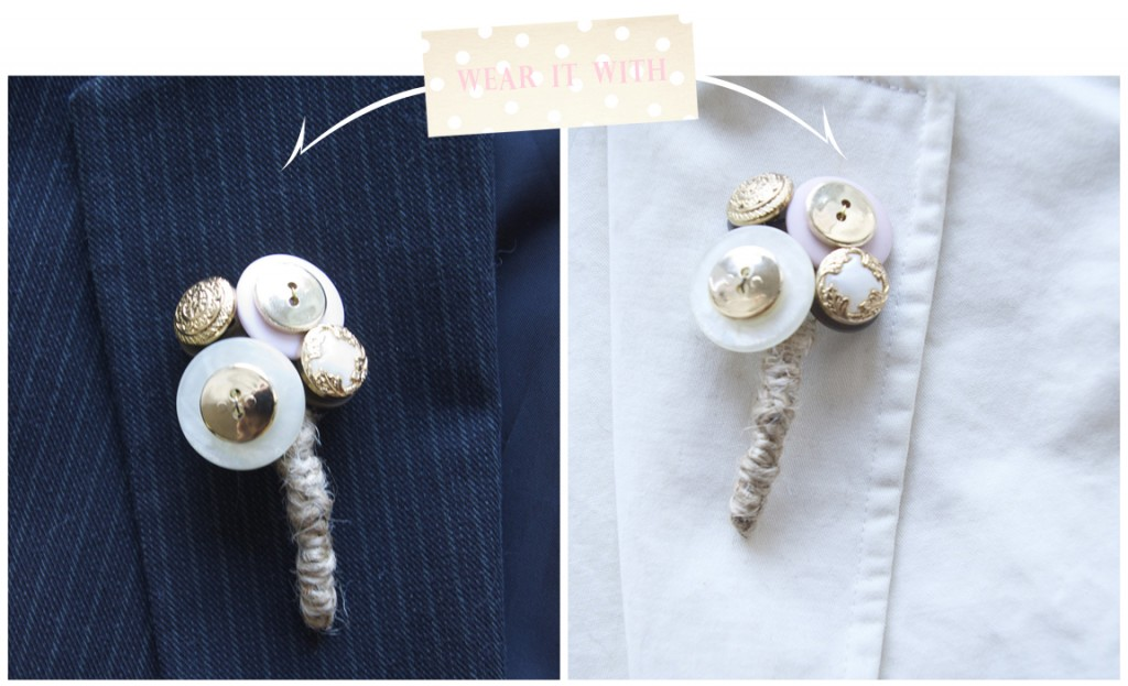 Vintage DIY Button Boutoniere