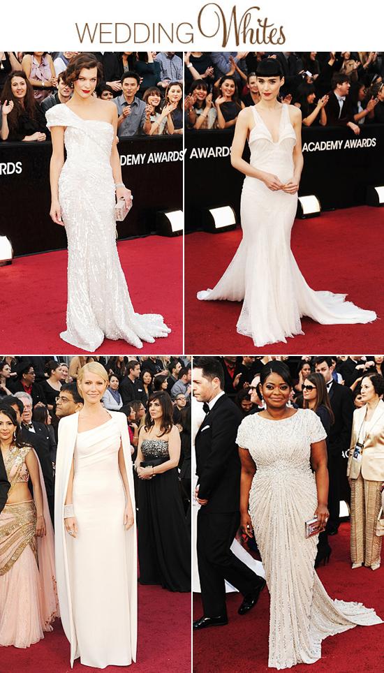 Wedding Dress Inspiration - White Oscar Gowns 2012 from Polka Dot Bride