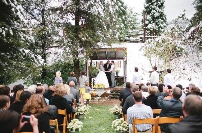 Green Wedding Shoes Snow wedding