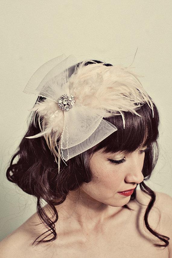 Mignonne Handmade Feather Headpiece