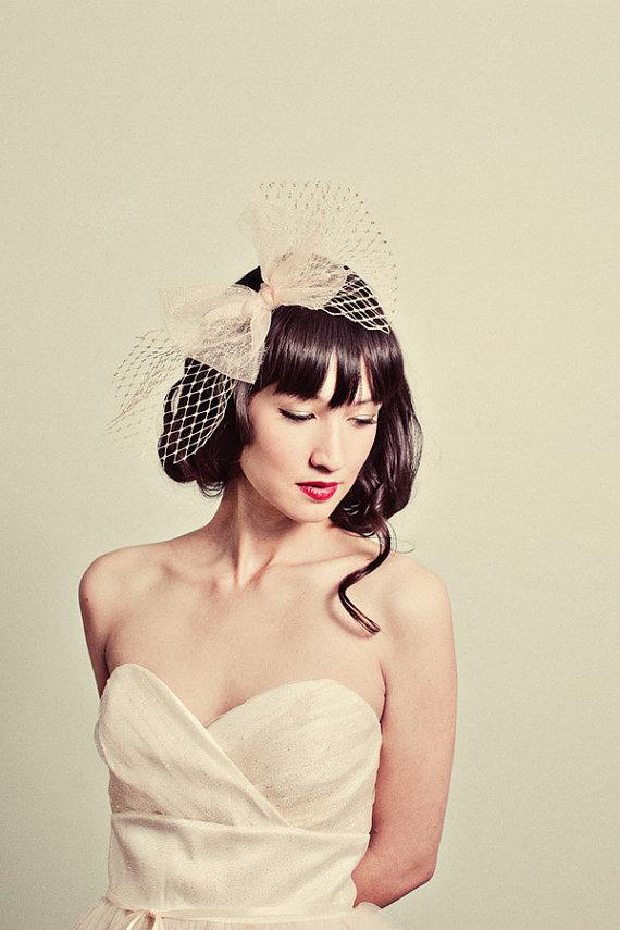 Mignonne Handmade Sparkle Tulle and Gold Netting Bow Headband