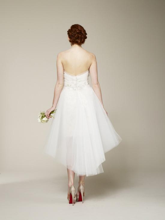 Marchesa Spring 2013 Short Wedding Dress Back
