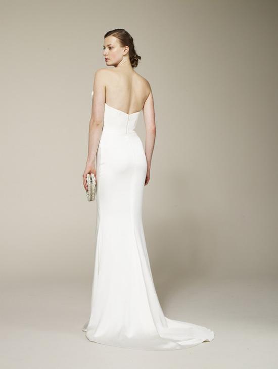 Marchesa Spring 2013 Satin Wedding Dress Back