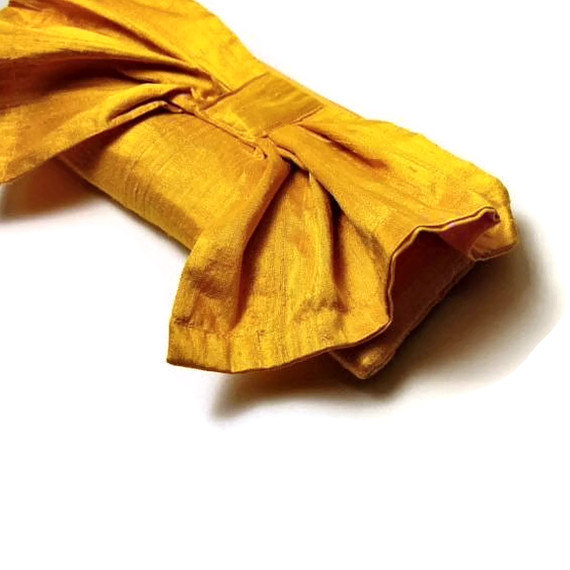 AO3 Designs Bow Clutch in Sunshine Yellow