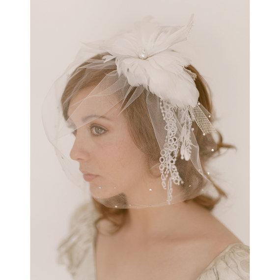 Erica Elzabeth Designs Birdcage Veil