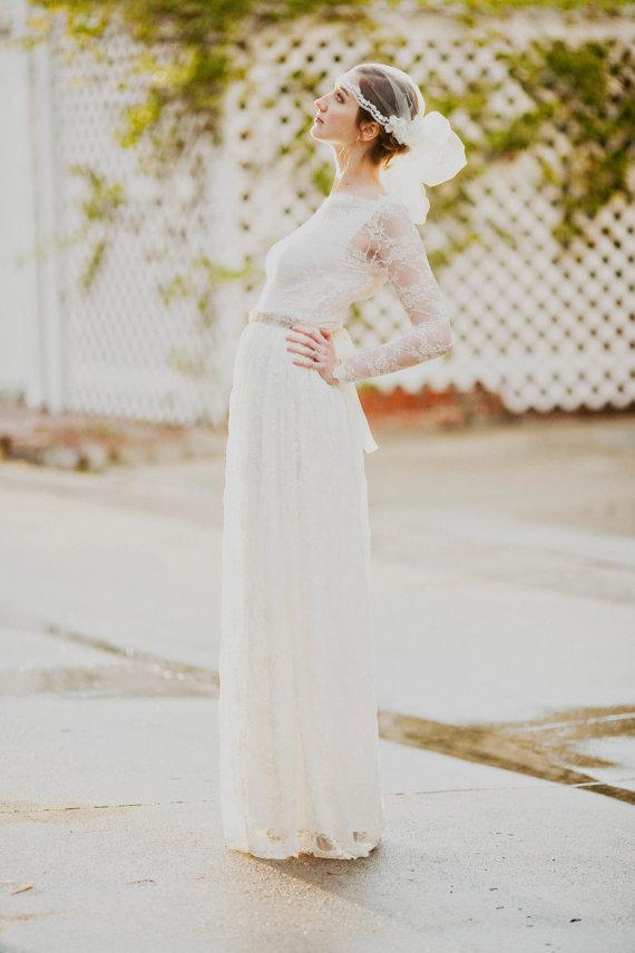 Le Nouveau Long Sleeved Wedding Gown