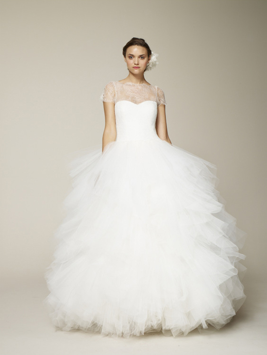Marchesa Spring 2013 Wedding Dress with Illusion Neckline