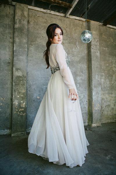 Disco Wedding Inspiration Shoot
