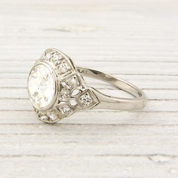 Antique 1.07 Carat Diamond Engagement Ring