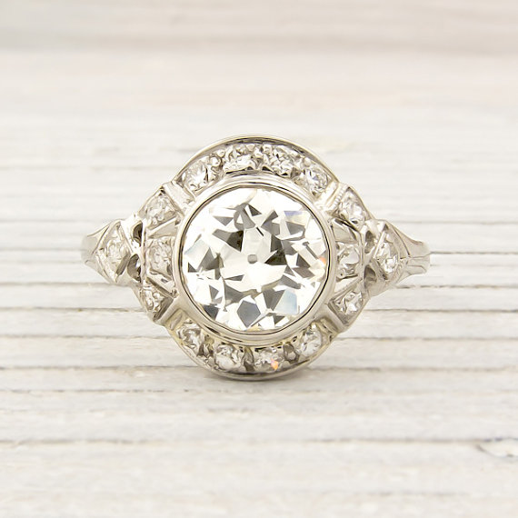 Antique 1.07 Carat Diamond Engagement Ring